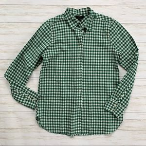 JCrew Holiday Gingham Button Down Shirt